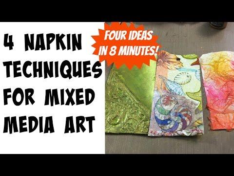 Mixed Media Paper Napkin Techniques