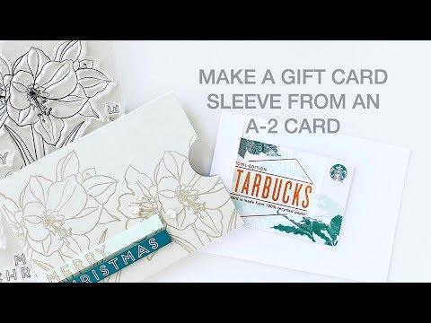 Easy DIY Gift Card Sleeve