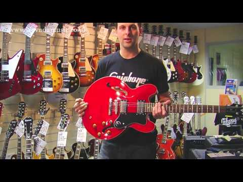 Comparing the Epiphone Casino, Sheraton and Dot 335 - Nick from Gibson at PMT