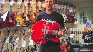 Comparing the Epiphone Casino, Sheraton and Dot 335 - Nick from Gibson at Nevada Music UK.