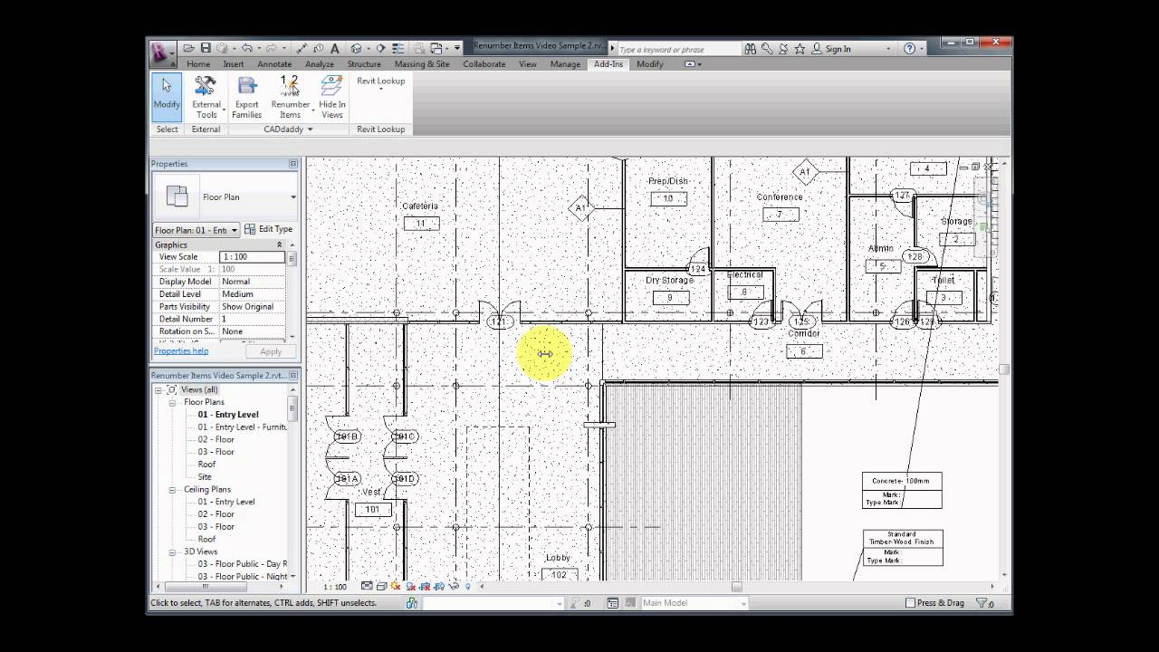 CADdaddy Tools for Revit - Automatic Renumbering by Element's Location in  View