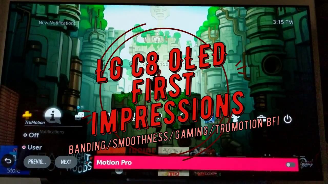 LG C8 impressions