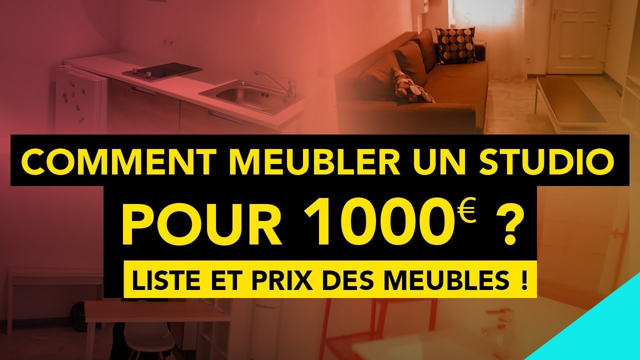 comment meubler un studio pour 1000 liste et prix des meubles youtube. Black Bedroom Furniture Sets. Home Design Ideas
