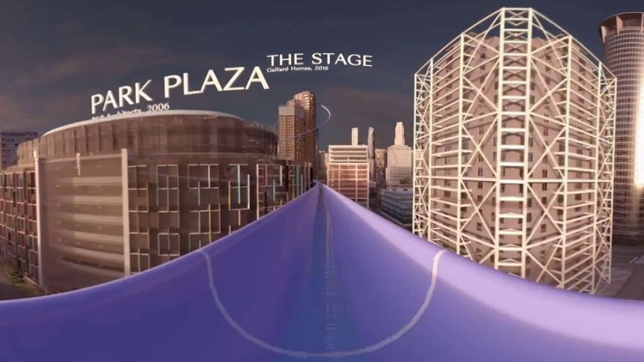 ウォータースライド - ガラスキャンバスによる360 CGビデオ