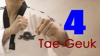 WTF Taekwondo poomsae Taegeuk 4 Jhang (taekwonwoo) 태극 4장
