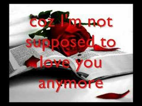 Im Not Suppose to Love You Anymore trademark