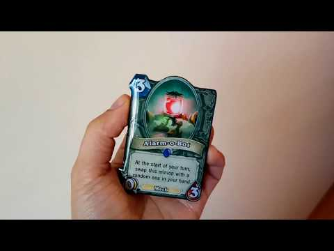 Hearthstone card - wood & crystal resin card