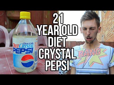 Drinking 21 Year Old Diet Crystal Pepsi | WheresMyChallenge