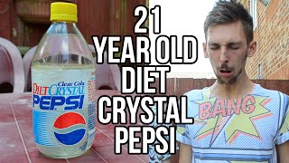 Drinking 21 Year Old Diet Crystal Pepsi | WheresMyChallenge