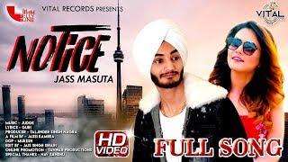 Notice | Jass Masuta | Pooja Thakur | Latest Punjabi Song 2018 | Vital Records