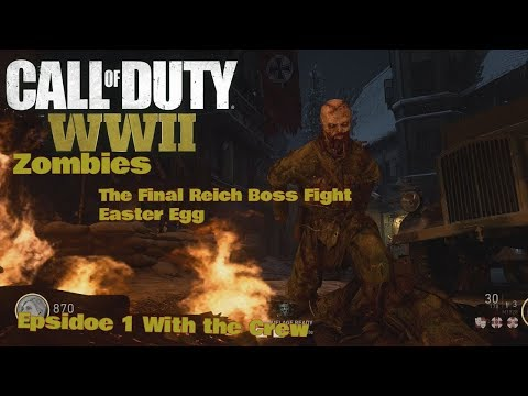 Call Of Duty WW2 Zombies The Final Reich Boss Fight Easter Egg Part 1
