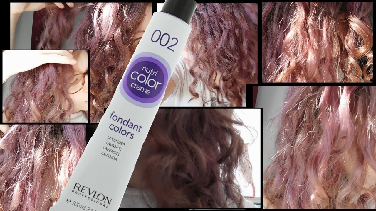 Revlon Nutri Color Creme 002 Lavender Hair Coloring Youtube