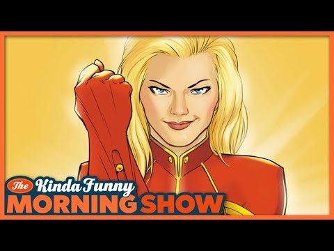 Brie Larson's Captain Marvel First Look - The Kinda Funny Morning Show 01.25.18
