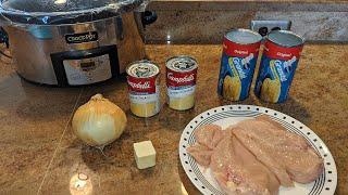 Easy 5 ingredient Crock Pot Chicken and Dumplings