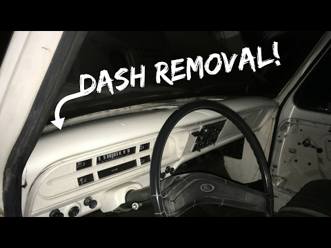 1971 Ford F100 Dash Removal