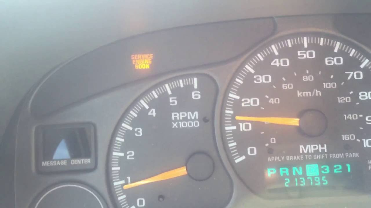2002 Chevy Avalanche 1500 5 3L Check Engine Light!