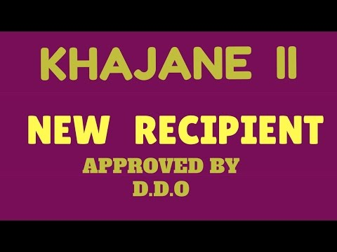 KHAJANE2 KARNATAKA Recipient Registration BY DDO
