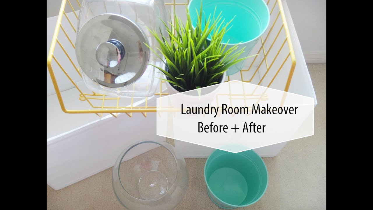 Laundry room makeover on a budget before after youtube for How to add a laundry room to your house