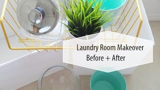 Laundry Room Makeover On A Budget | Before + After