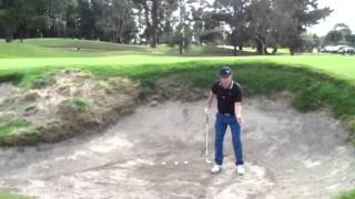 How to hit a high shot out of a deep bunker