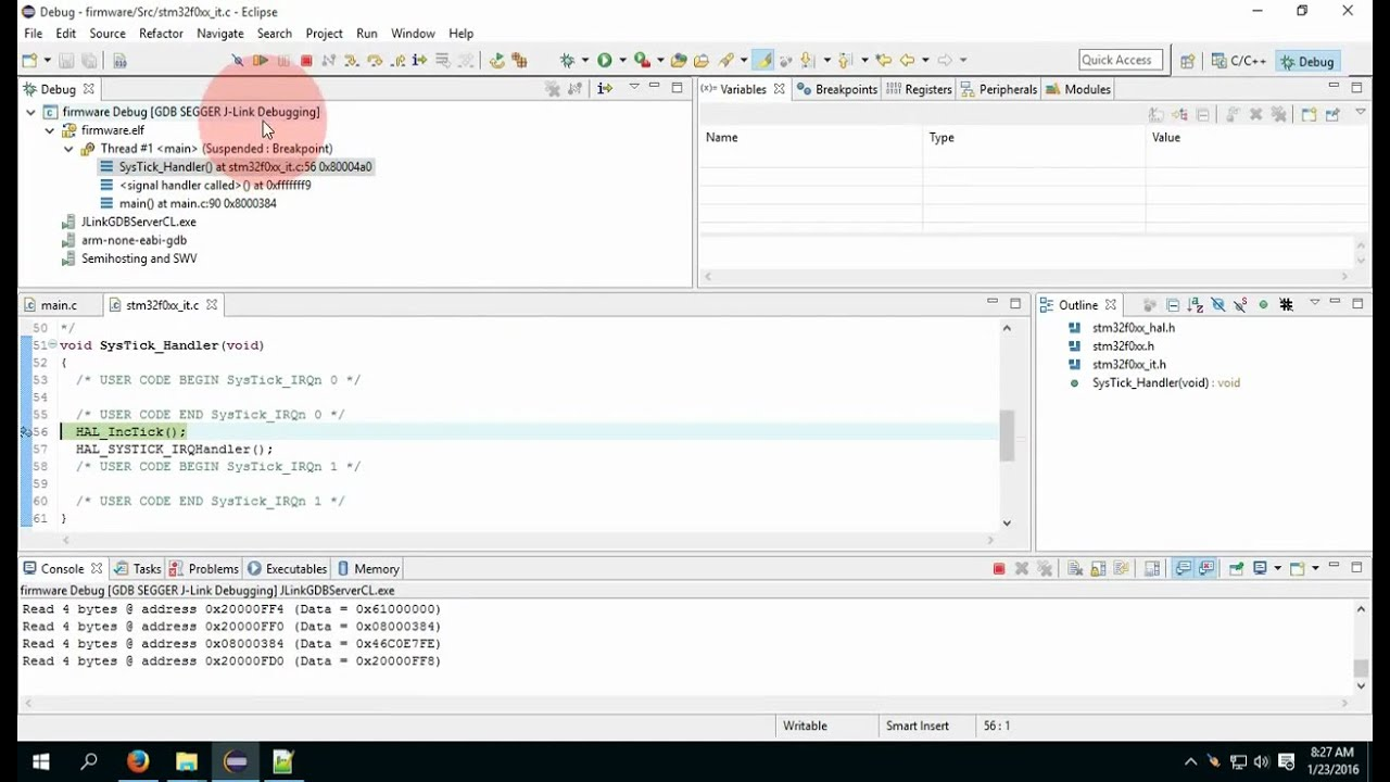 Setup Eclipse, STM32CubeMX, ARM GCC, J-Link on Windows