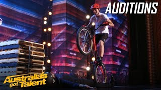 Biker Puts a Judges' Life on the Line | Auditions | Australia's Got Talent