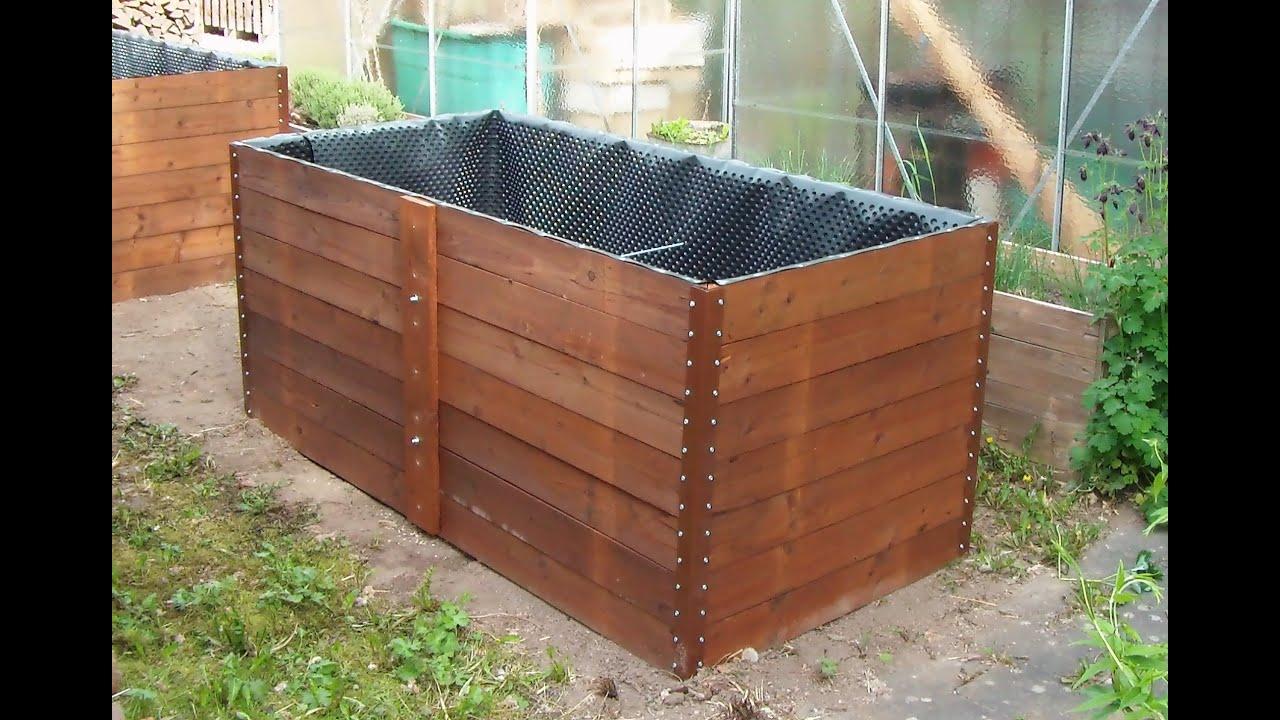 Hochbeet Selber Bauen Aus Holz Und Metall Raised Garden Bed Construction Idea Youtube