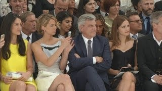 Jennifer Lawrence and Emma Watson hit Dior show at Paris Fashion Week