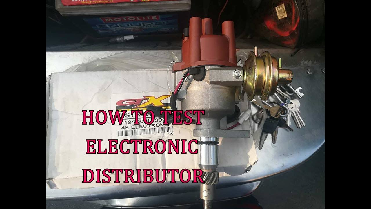 How To Test Electronic Distributor Toyota 4k Youtube