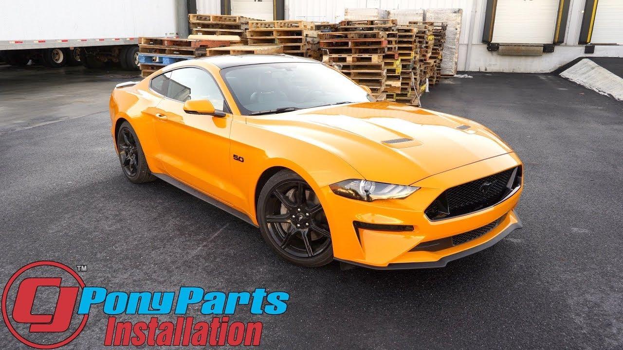 2018-2019 Mustang CJ Pony Parts Lowering Spring Set Installation