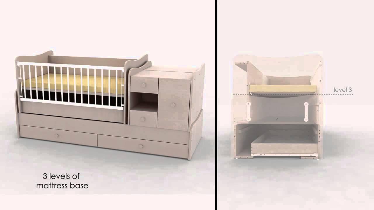Baby Schommel Bed.Minimax Babykamer 4 In 1 Met Schommel Systeem Baby Mundo Youtube