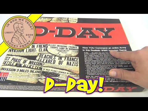 D-Day War Gaming Board Game - 1977 TAHC Games