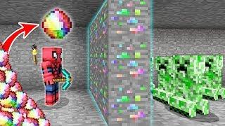 ÖRÜMCEK ADAM GÖKKUŞAĞI ELMASLARI BULDU (ÇOK DEĞERLİ MADEN) - Minecraft