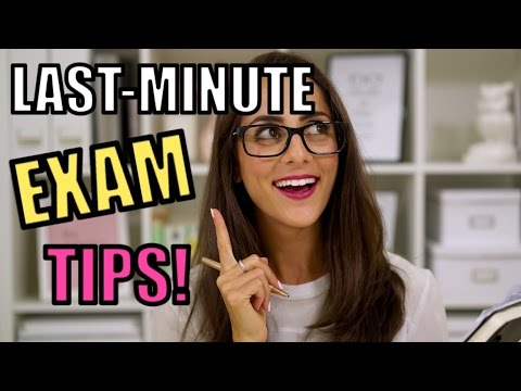 5 LAST MINUTE EXAM TIPS!
