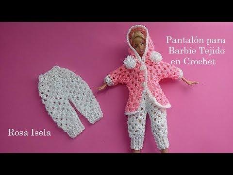 Chamarra o abrigo para barbie a crochet