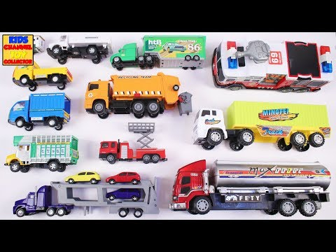Learn Heavy Trucks for Children | Vehicles for Kids | Big Fire Engine, Tanker Truck, Garbage Truck