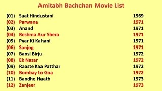 Amitabh Bachchcan Movies List