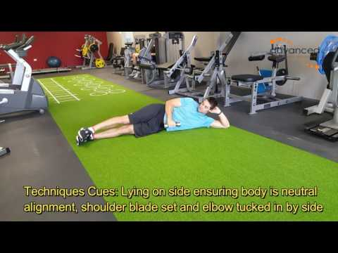 SHOULDER EXERCISES Side Lying Dumbbell External Rotation