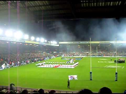 2011 Four Nations Final-England 8-30 Australia-Land Of Hope & Glory-Team Entrances-National Anthems
