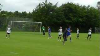Varde-KFC U14. Resultat: 2-3 - Fodbold U14 (98) række 609 1. halvleg Del 3 - lørdag 23. juni 2012