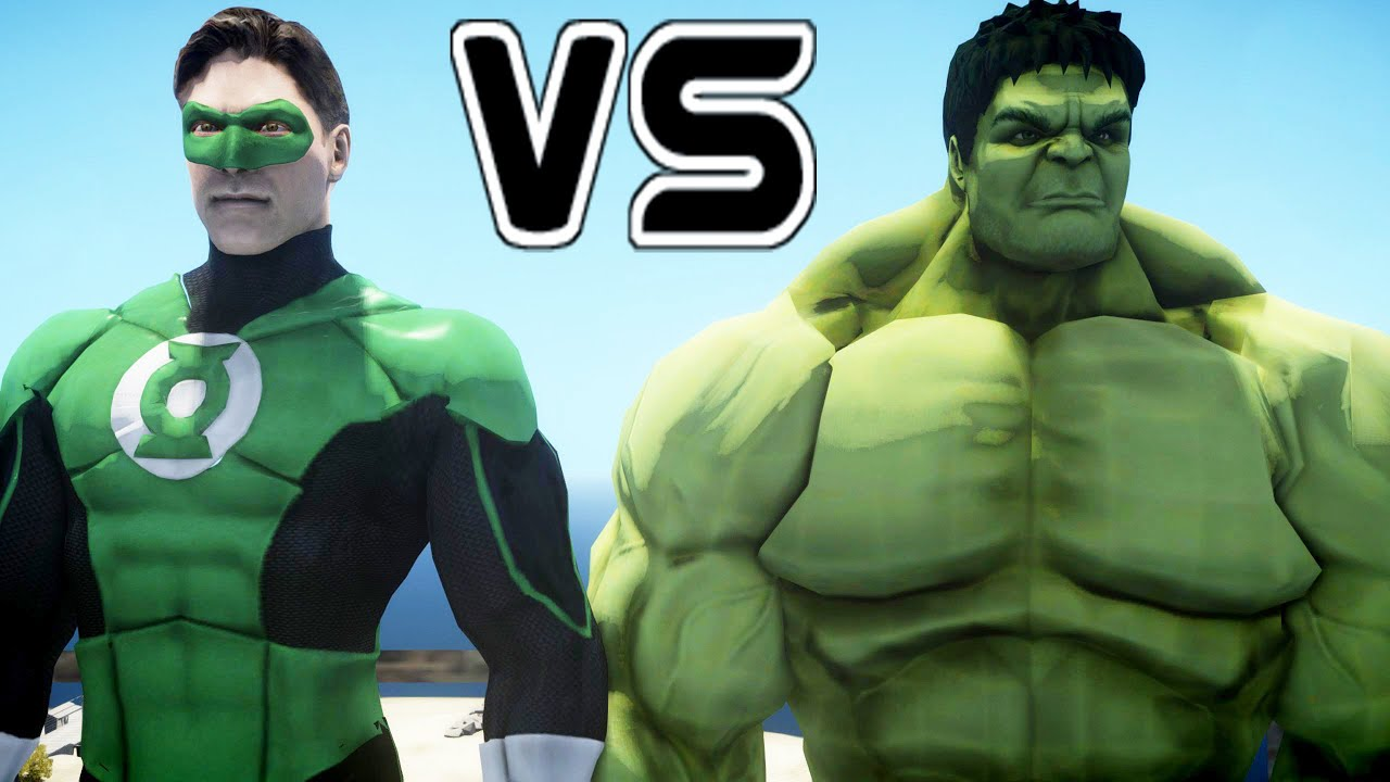 hulk vs green lantern - epic battle - youtube