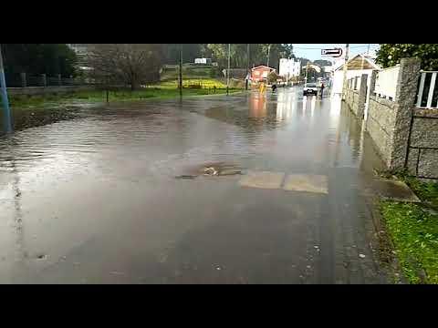 El temporal de lluvia deja incomunicado al Concello de O Grove