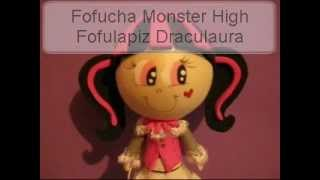 Fofucha Monster High Draculaura fofulapiz Foamy Gomaeva Artfoamicol moldes y patrones.wmv