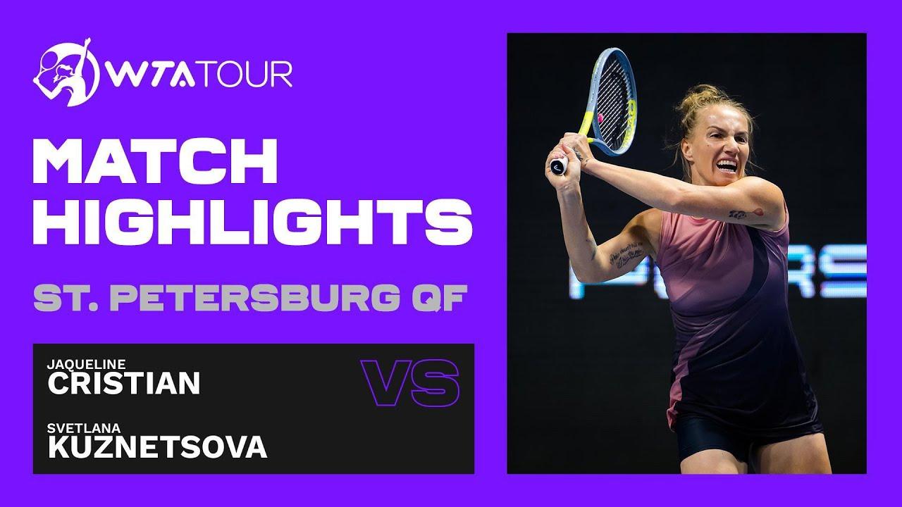 Jaqueline Cristian vs. Svetlana Kuznetsova | 2021 St. Petersburg Quarterfinals | WTA Match Highlight