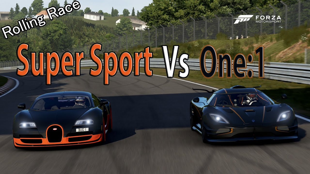Forza Motorsport 6 - DRAG RACE: Koenigsegg One:1 Vs Bugatti Veyron