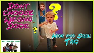 Don't Choose The Wrong Door Tag AT NiGHT Hide and Seek / That YouTub3 Family the adventurers