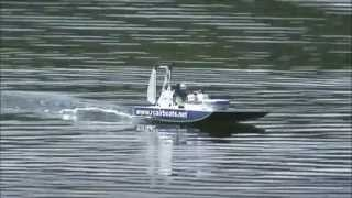 In Line Engine RC Airboat - Test vid 2