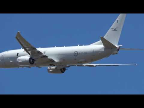 RAAF Boeing P8A Poseidon A47-001 (Sealion54) First take off from Avalon Airport