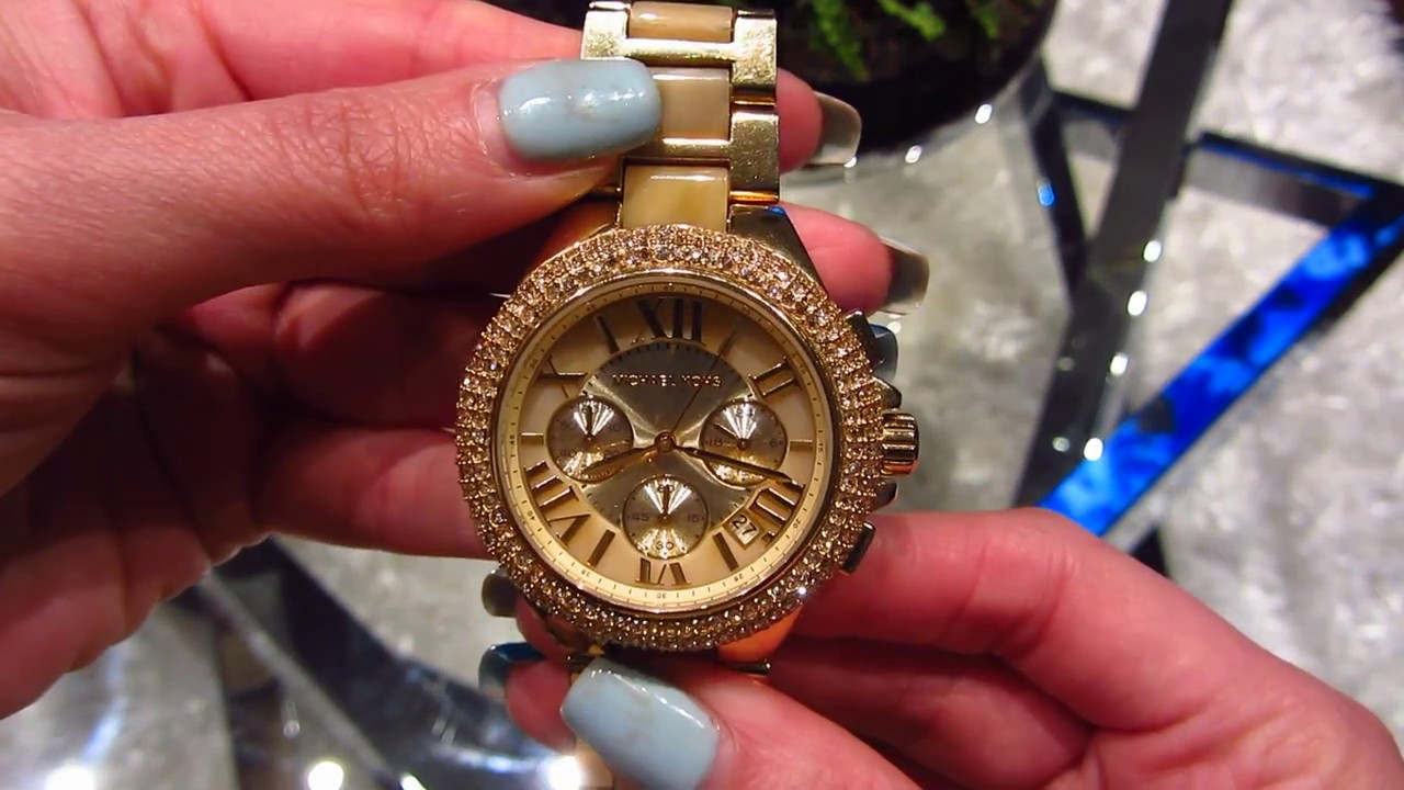 67737621d395 Michael Kors MK5902 Women Watch Gold Sparkle - YouTube