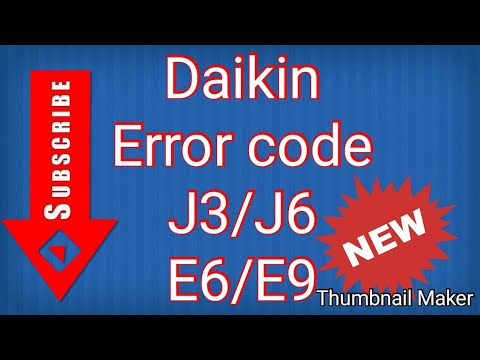 Daikin AC All error codes E5,E6,E7,E8,EA,F3,F6,H6,H8,H9,J3,J6,L3,L4